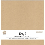 Cardstock-12x12  Smooth Craft Natural (30 sheets)