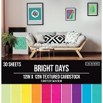 Cardstock-12x12 Textured Bright Days  (30 sheets)