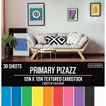 Cardstock-12x12 Textured Primary Pizazz  (30 sheets)