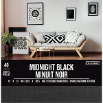 Cardstock-12x12 Textured Midnight Black  (30 sheets)