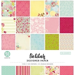 Designer Paper Pad- Delilah  12x12 (50 sheets-single sided)