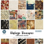 Designer Paper Pad- Vintage Treasure  12x12 (50 sheets-single sided)