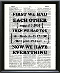 Personalized Art Print-First we had each other, then we had you...