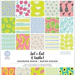 Designer Paper Pad- Let's Eat   12x12 (50 sheets-single sided)