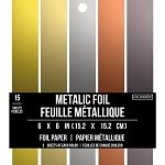 Cardstock-6x6 Foil Metallic (15 sheets)