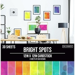 Cardstock-12x12 Bright Spots (30 sheets)