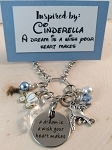 Character inspired necklace  **A Dream is a Wish Your Heart Makes**