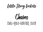 Little Story Locket-Chains