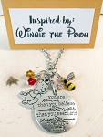 Character inspired necklace  **Favorite Bear**  Always remember....