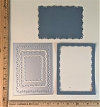Scrapbooking Die-Lacy Edges Rectangle