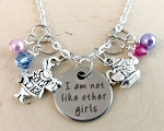Character inspired necklace  **I'm not like other girls!**