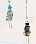 Necklace-Lovely Ladies --Rhinestone Dress