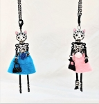 Necklace-Lovely Ladies --Cat Faces in Dresses