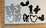Scrapbooking Die-LOVE,Mouse Head, Ears, Silhouettes