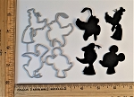 Scrapbooking Die-Character Head Silhouettes x4