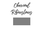 Round Rhinestones **NEW color**  Charcoal