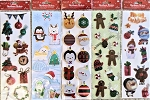 Christmas Stickers 5pc bundle