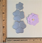 Scrapbooking Die- Simple Flower x3
