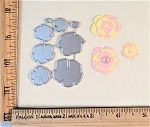 Scrapbooking Die- Mini Flat Flowers 8 pc