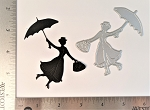 Scrapbooking Die-Flying Woman with Umbrella