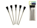 Metal Handle Rough Bristle Brush -5/pk