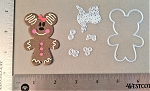 Scrapbooking die-Christmas Gingerbread Cookie Mouse