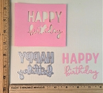 Scrapbooking Die-Happy Birthday split font