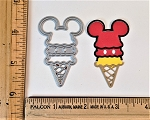 Scrapbooking Die-Mouse Head Ice Cream Cone