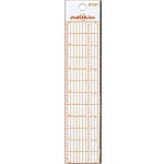 6 inch ruler- grid,steel edge,bevel edge