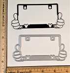 Scrapbooking Die-License Plate w/ Mouse Hands/Head