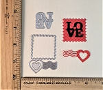Scrapbooking Die- Love Postage Stamp