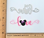 Scrapbooking Die-Love {mouse head and hearts}