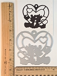 Scrapbooking Die-Mouse in Big Heart Silhouette