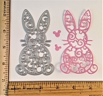 Scrapbooking die-Easter Bunny Mouse Filigree