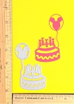 Scrapbooking Die-Birthday Cake/Mouse Balloon-Candles