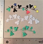 Scrapbooking die-Christmas String of Lights Mouse Head/Stars
