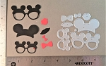 Scrapbooking Die-Mouse Ears/Glasses/Lips and Bows