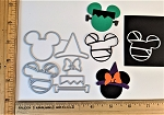 Scrapbooking Die-Halloween Mouse Head Witch/Frankenstein/Mummy