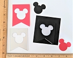 Scrapbooking Die-Mouse Head Pennant