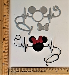 Scrapbooking Die-Heart Beat Mouse Nurse/Doctor