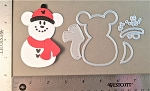 Scrapbooking die-Christmas Mouse Stitched Snowman