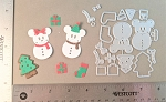 Scrapbooking die-Christmas Mouse Sugar Cookies