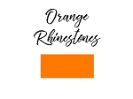 Round Rhinestones **NEW color**  Orange