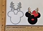 Scrapbooking Die-Mouse Head Reindeer