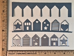 Scrapbooking Die-Happy Row of Houses Border/Edge
