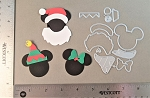 Scrapbooking die-Christmas Mouse Santa/Jingle Bell Hat/Bow