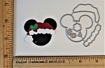 Scrapbooking Die-Christmas Mouse Head Hat/Holly