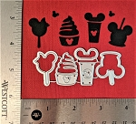 Scrapbooking Die-Mouse Park Ice Cream/Coffee Treats