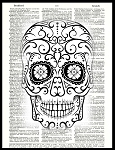 Vintage Art Prints (Sugar Skulls series)