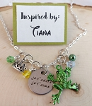 Character inspired necklace  **Princess w/ the Frog**